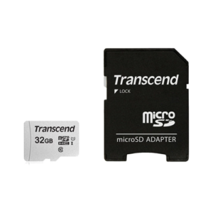 Transcend 32GB Micro SD UHS-I U1-Class-10 Memory Card with Adapter